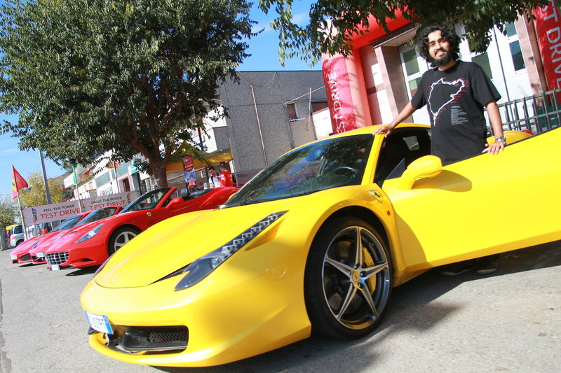 Ferrari 458 Italia. 570 prancing horses let loose on the streets of Maranello