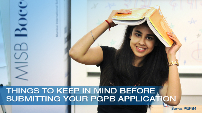 Things to Keep In Mind Before Submitting Your PGPB Application.