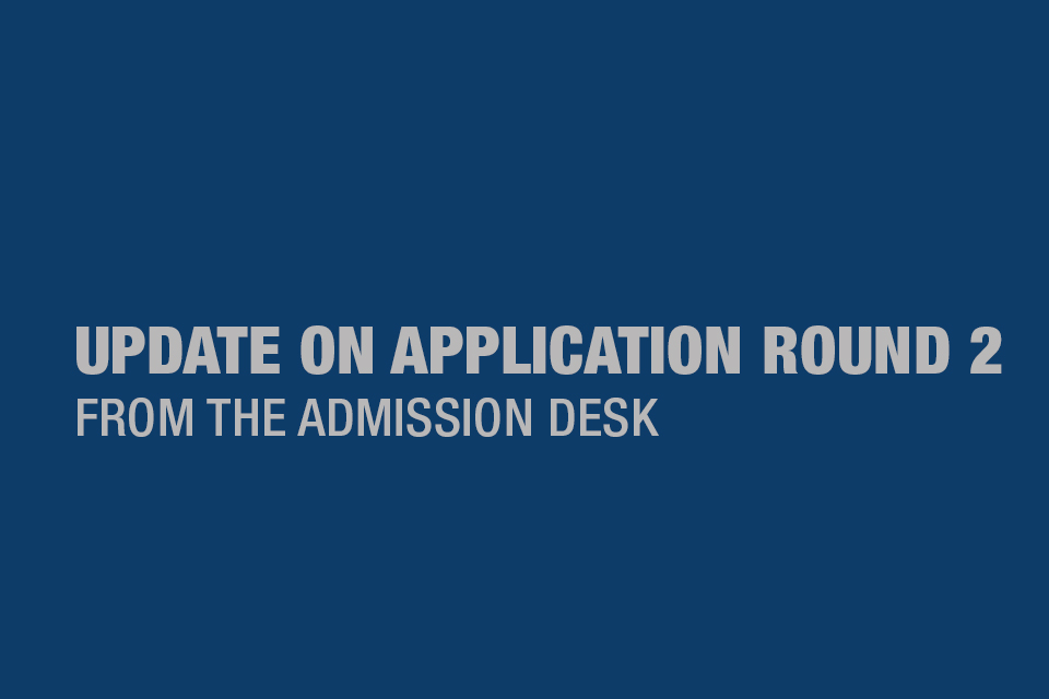 Update from Admission Desk on PGPB Application Round 2
